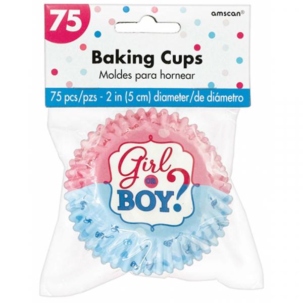 Girl or Boy? Baking Cups Cupcake Cases 75PK
