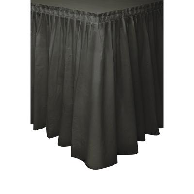 Plastic Tableskirt Black