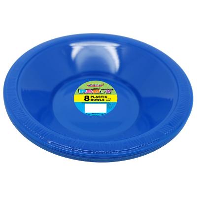 Plastic Bowls 18cm Royal Blue 8PK