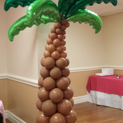 Balloon Column Plam Tree