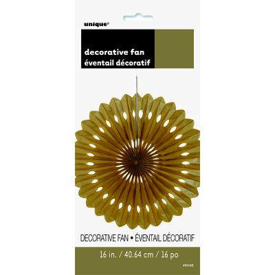 Hanging Decorative Fan 40cm Gold
