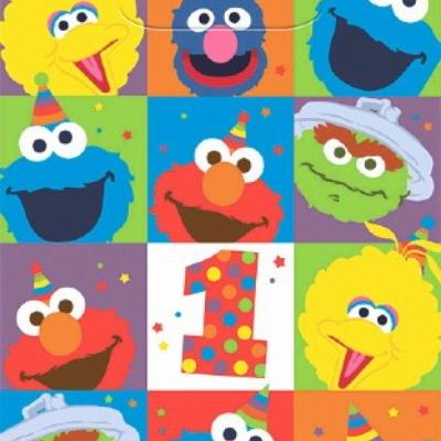 Elmo Turns One Plastic Loot Bags 8PK