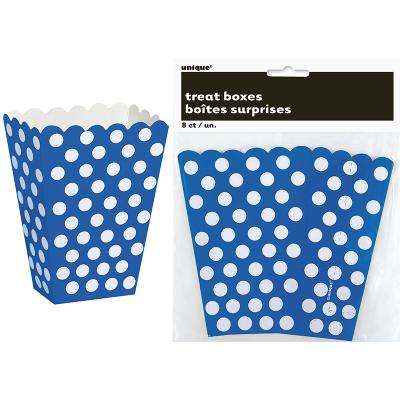Polka Dots Treat Boxes Royal Blue 8PK