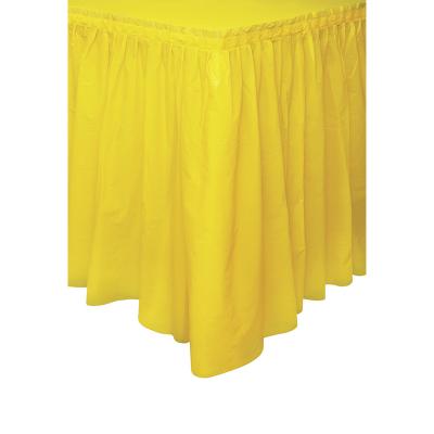Plastic Tableskirt Yellow