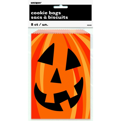 Pumpkin Cookie Bags 8PK