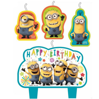 Despicable Me Birthday Candle Set 4PK