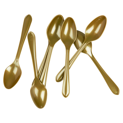 Five Star Dessert Spoon Metallic Gold 20PK