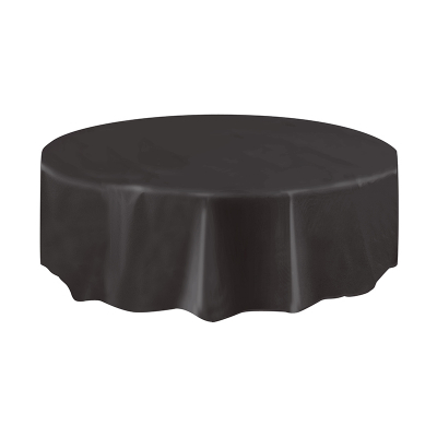 Round Plastic Tablecover Black