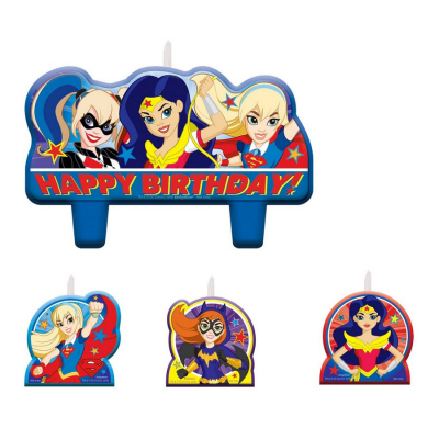 DC Superhero Girls Birthday Candle Set 4PK
