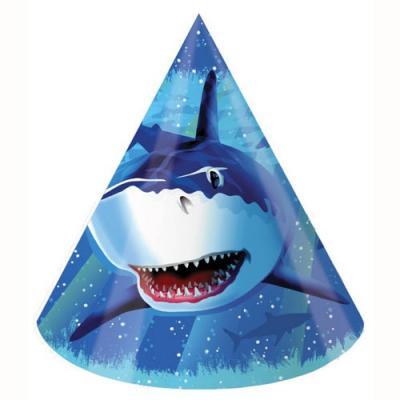 Shark Splash Party Hats 8PK
