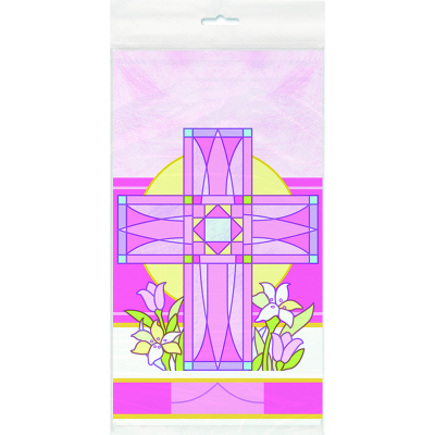Sacred Cross Pink Tablecover