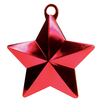 Balloon Weight Star Red