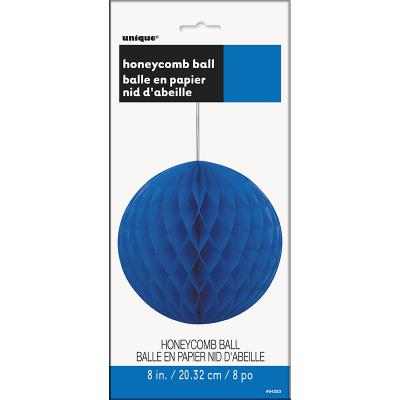 Hanging Honeycomb Ball 20cm Royal Blue