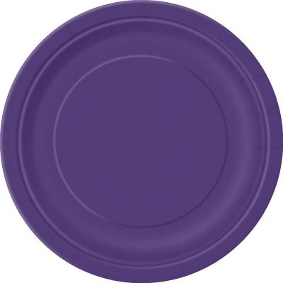 Paper Around Plates 18cm - Purple 8PK