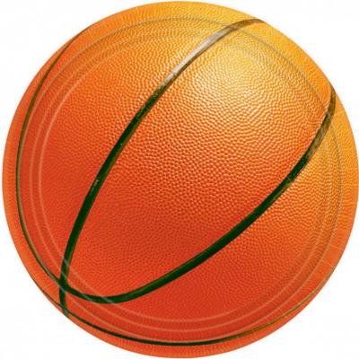 Basketball Fan 17cm Round Plates 8PK