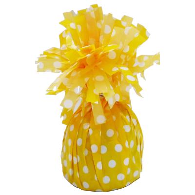 Polka Dots Balloon Weight Sunflower Yellow