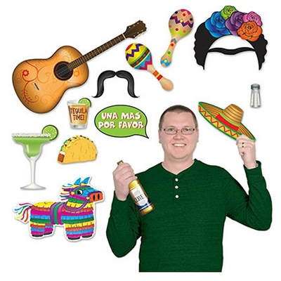 Fiesta Photo Booth Props Fun Signs 12PK