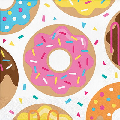 Donut Time Lunch Napkins 16PK