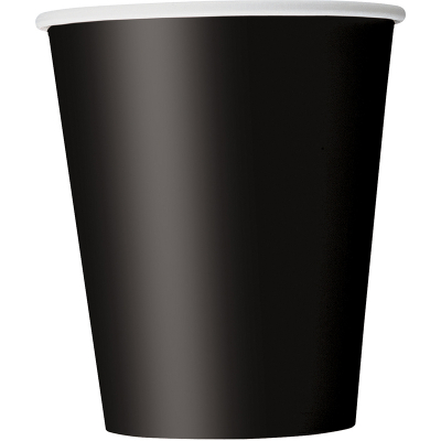 Paper Cups - Black 8PK