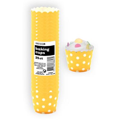 Polka Dots Baking Cups Sunflower Yellow 25PK