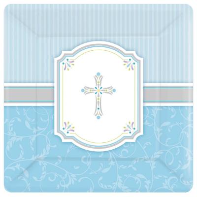 Blessings Blue 26cm Square Plates 8PK