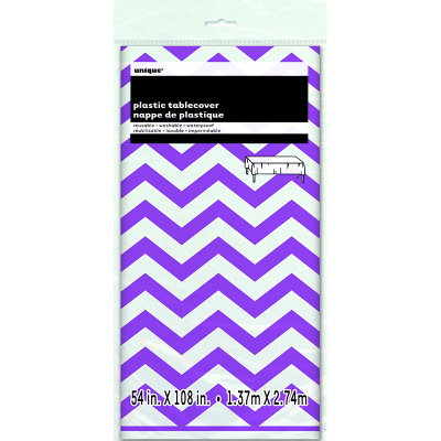Chevron Tablecover Purple