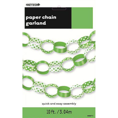 Polka Dots Paper Chain Lime Green
