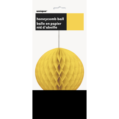 Hanging Honeycomb Ball 20cm Yellow