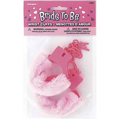 Bride To Be Furry Wrist Cuffs