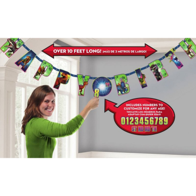 Jurassic World Jumbo Add-An-Age Letter Banner Printed Paper