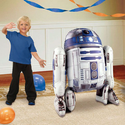 Airwalker Star Wars R2D2 Inflated with Helium