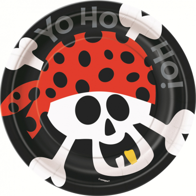 Pirate Fun 18cm Paper Plates 8PK