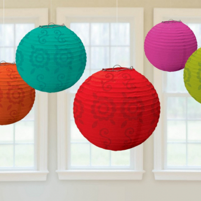 Fiesta Round Paper Lanterns Value Pack 6PK