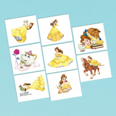 Beauty And The Beast Tattoo Favors 8PK