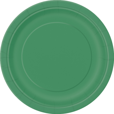 Paper Around Plates 18cm - Dark Green 8PK