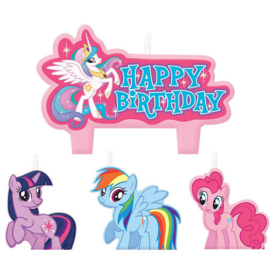 My Little Pony Friendship Birthday Candle Set 4PK