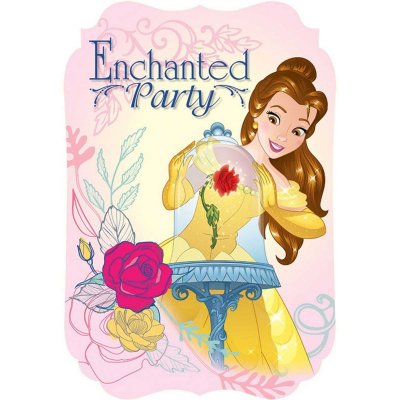 Beauty And The Beast Invitations 8PK