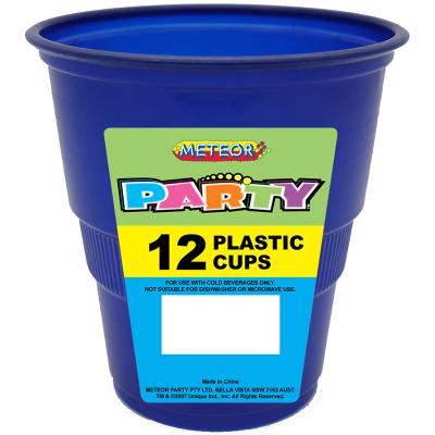 Plastic Cups 270ml Navy Blue 12PK