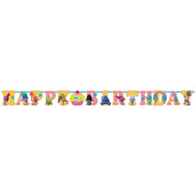 Trolls Happy Birthday Jointed Add-An-Age Cardboard Jumbo Banner
