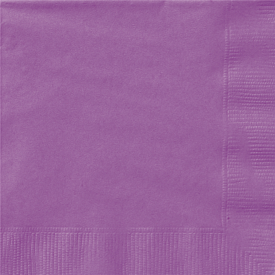 Beverage Napkin Purple 20PK