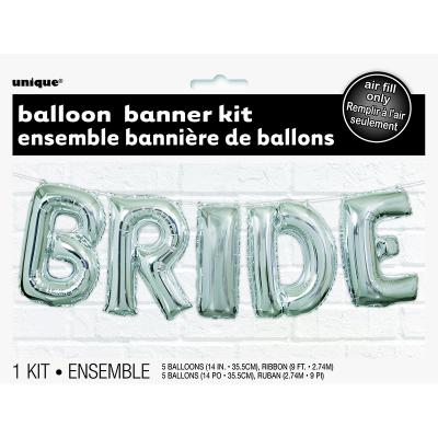 """Bride 14"""" Letter Foil Balloon Kit 5PK"""