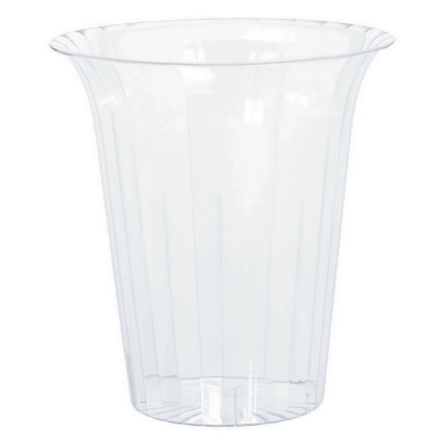 Flared Cylinder Plastic Clear Medium