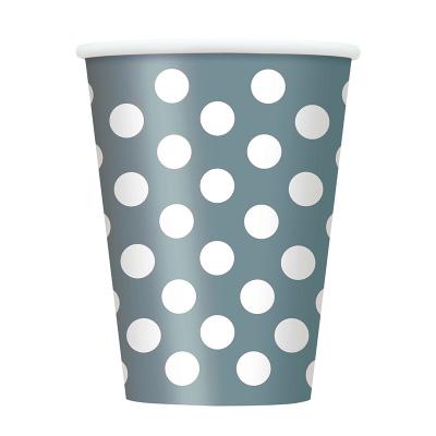 Polka Dots Cups Silver 6PK