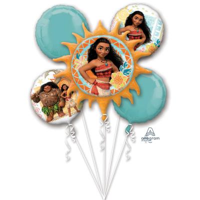Moana Foil Balloon Bouquet 5PK