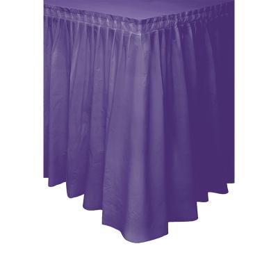 Plastic Tableskirt Purple