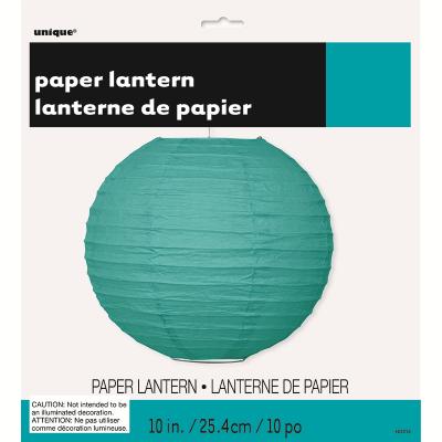 Round Lantern 25cm Teal