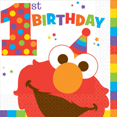 Elmo Turns One Lunch Napkins 16PK