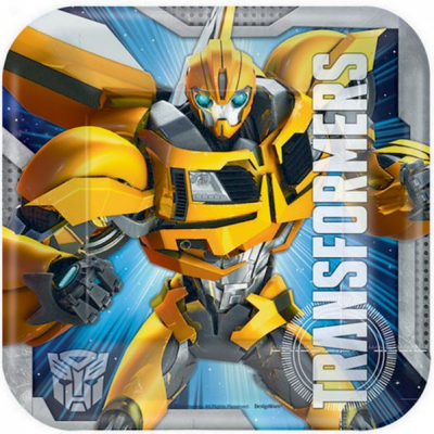 Transformers Core 17cm Square Plates 8PK