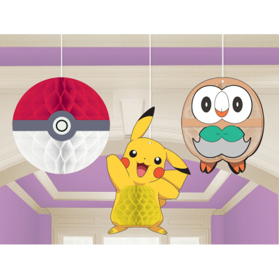 Pokemon Core Honeycomb Decorations 3PK