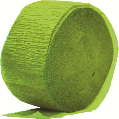 Crepe Paper Streamer 24M Lime Green